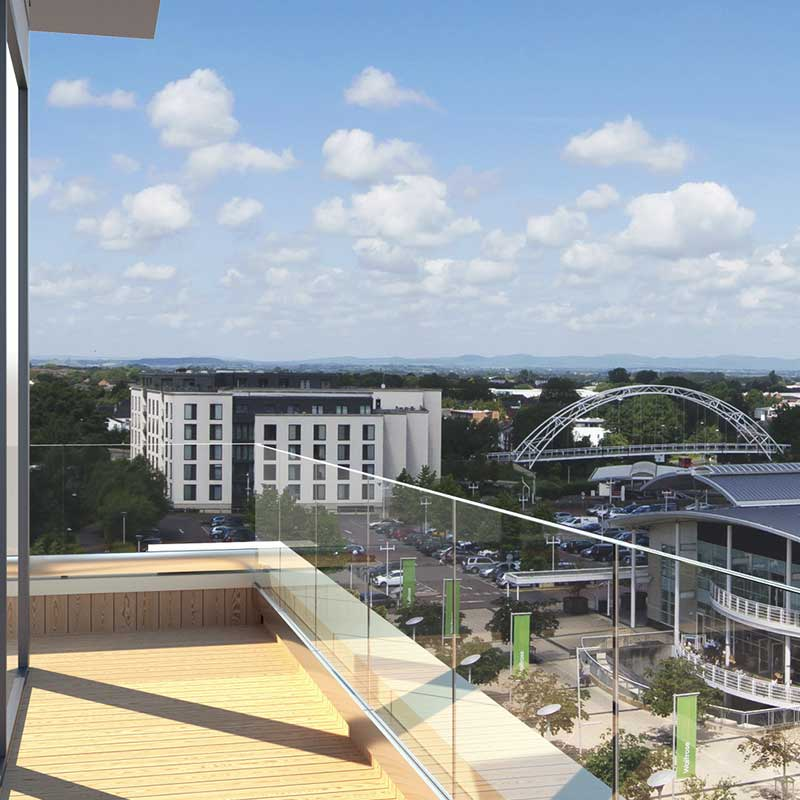 CGI showing view from top floor