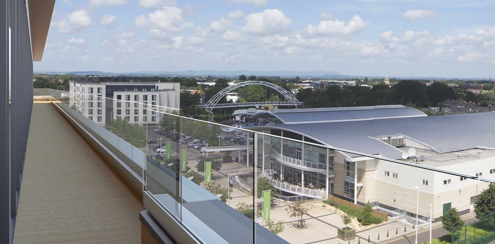 CGI showing building